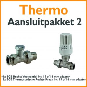 Compact 4 plus Thermostatisch aansluitpakket 2 t.b.v. 15 of 16 mm buis
