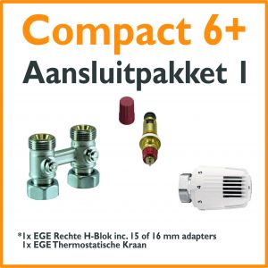 Compact 6 plus Thermostatisch aansluitpakket 1 t.b.v. 15 of 16 mm buis
